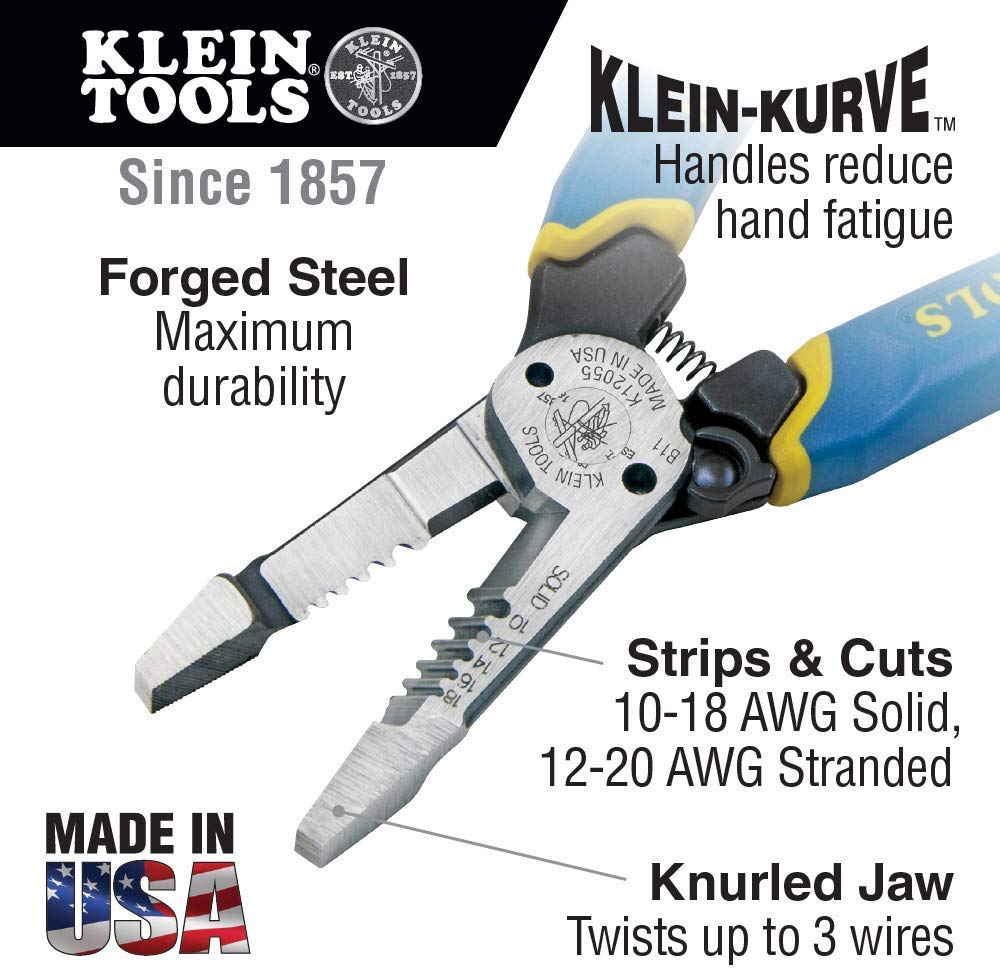 Klein Tools K12055 Heavy-Duty Wire Stripper - Consavvy