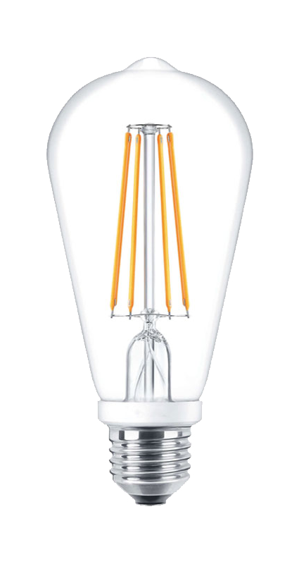 DawnRay LED Filament Bulb 6W 2700K Warm White E26 Screw Base Dimmable Bulbs UL-Listed (ST19) - Consavvy
