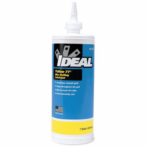 IDEAL 31-358 1-Quart Squeeze Bottle Yellow 77 Wire Pulling Lubricant