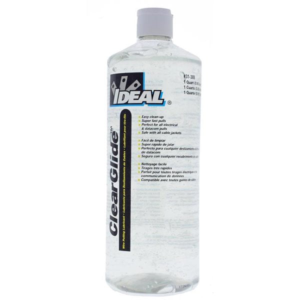 IDEAL Clear Wire Pulling Lubricant 1 Quart