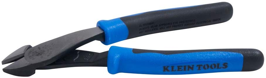 Klein J2000-48 8-Inch Journeyman Diagonal Cutting Pliers (Blue and Black) - Consavvy