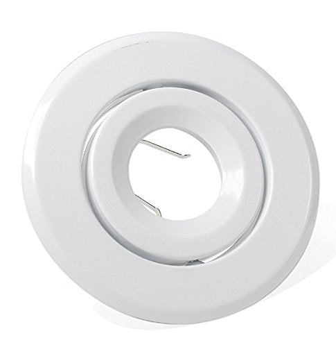 "4"" White Trim with Tilting Gimbal for Par16/GU10/Mr16 Lamps - Consavvy"