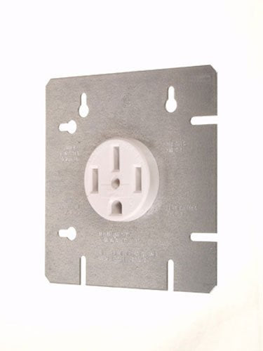 "Vista 45126 50A RANGE Receptacle OUTLET WITH 4 11/16"" COVER PLATE"