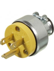VISTA 45415 1Pack Plug 15A/250V w/Clamp - Yellow - Consavvy