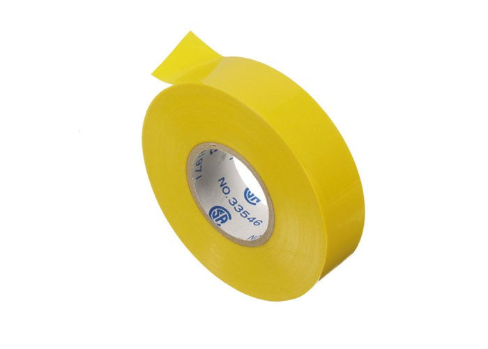 VISTA 45526 1Pack/5 Pack Electrical Tape-66' - Yellow - Consavvy