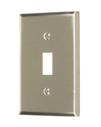Vista 45701 STAINLESS STEEL TOGGLE SWITCH WALL PLATE 1-Gang