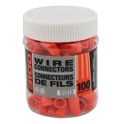 VISTA 49124 Twist On Connector - Orange - Small, 100/JAR - Consavvy