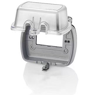 Leviton 5981-CL 1-Gang Extra Duty While-In-Use Cover for GFCI/Decora, Device Mount Horizontal, Lid - Clear