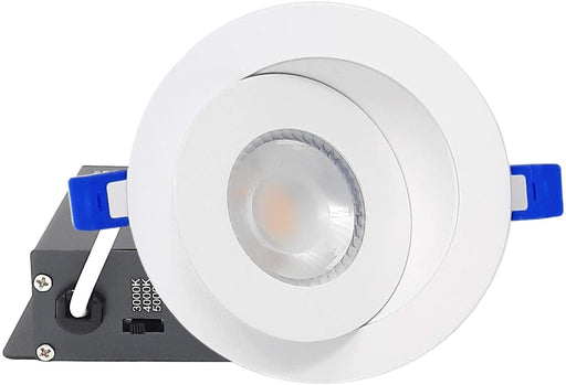 "DawnRay 4"" LED Round Slim Panel(Potlight) 3000K/4000K/5000K(changeable), White/Black/Brushed Nickel, 9W, 700LM"