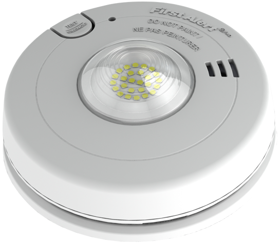 BRK 3 in 1 Low Profile Design Carbon Monoxide,Strobe & Smoke Alarm - 7030BSLA - Consavvy