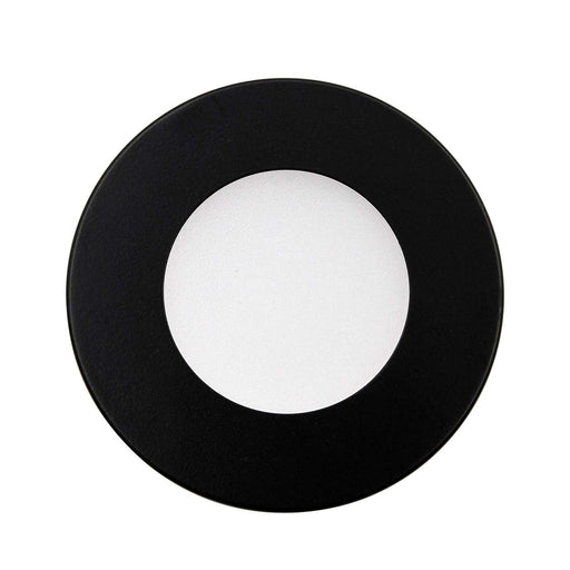 Ultra Slim LED DC 24V Under Cabinet Puck Light, Surface Mount or Recessed Mount, 4000K Cool White, ETL Listed (Black Cover) - Consavvy