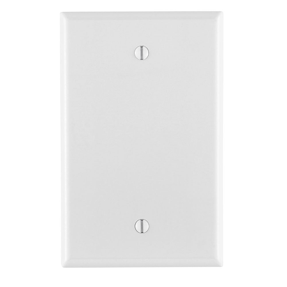 LEVITON 80514-W Blank Wallplate Midsize 1 Gangs White 1Pack/25Pack