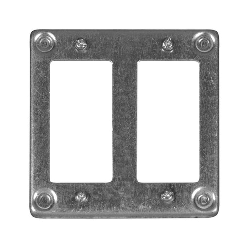 Hubbell 8368 SQUARE COVER 4IN 2G 2GFCI Plate