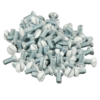 "Leviton 88400-PRT 5/16"" Long 6-32 Thread. Oval Head Milled Slot Replacement Wallplate Screws. White 1Box(100 Pieces)"
