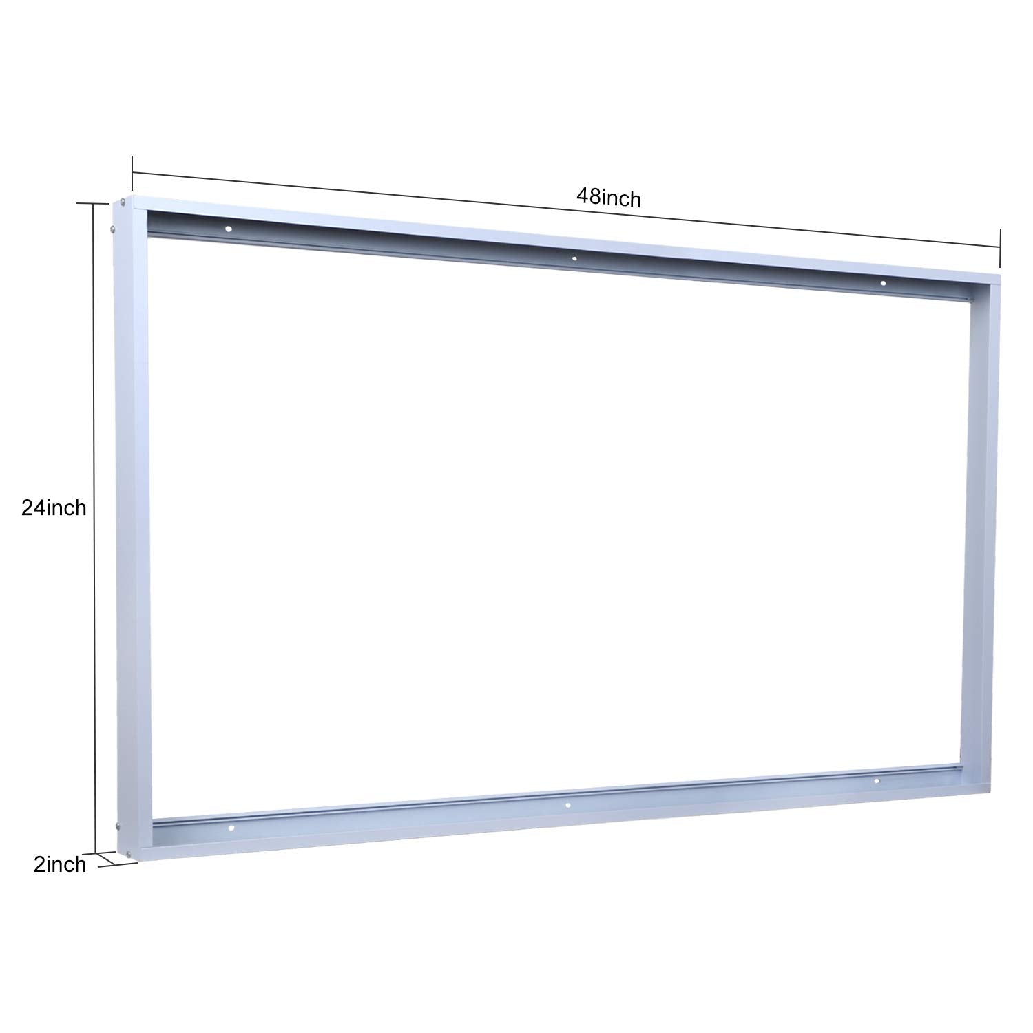 1-Pack 2x4FT Surface Mount Kit, Dawnray Ceiling Frame Kit for 2x4FT LED Panel Light/Drop Ceiling Light Aluminum - Consavvy