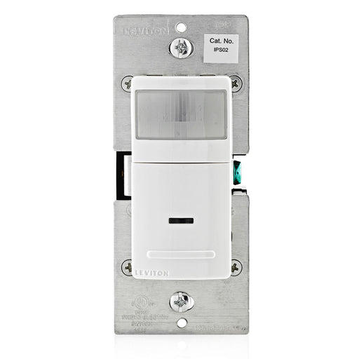 Leviton IPS02-1LW Decora Motion Sensor(Residential) In-Wall Switch, Auto-On, 2.5A, Single Pole