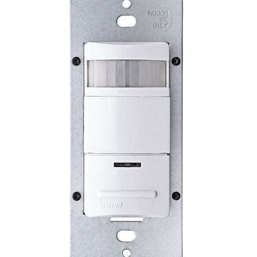 Leviton ODS10-IDW Decora Passive Infrared Wall Switch Occupancy Sensor (Commercial), 180 Degree, 2100 Square Feet Coverage (White)