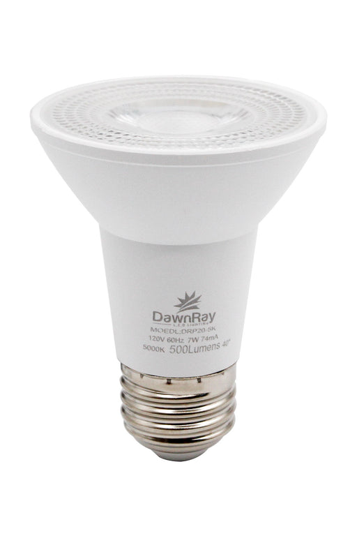 DawnRay LED PAR20, 7W, 500 Lumens, 3000K, Warm White ,Dimmable ,3 Years Warranty - Consavvy