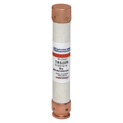 Mersen Class RK5 Fuse, 20 Amp, 600V, Ferraz Shawmut TRS20R, TRS20A, Tri-Onic Low Voltage Fuse.
