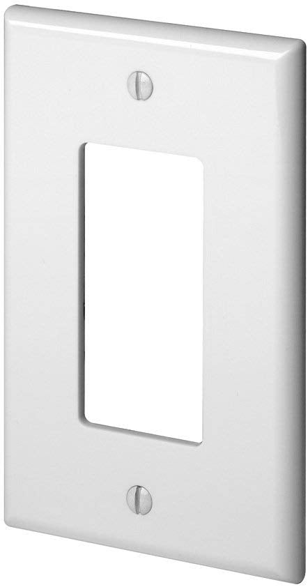 EATON PJ26W 1 Gang Decora/GFCI Wall Plate, Midway Size, White - Consavvy