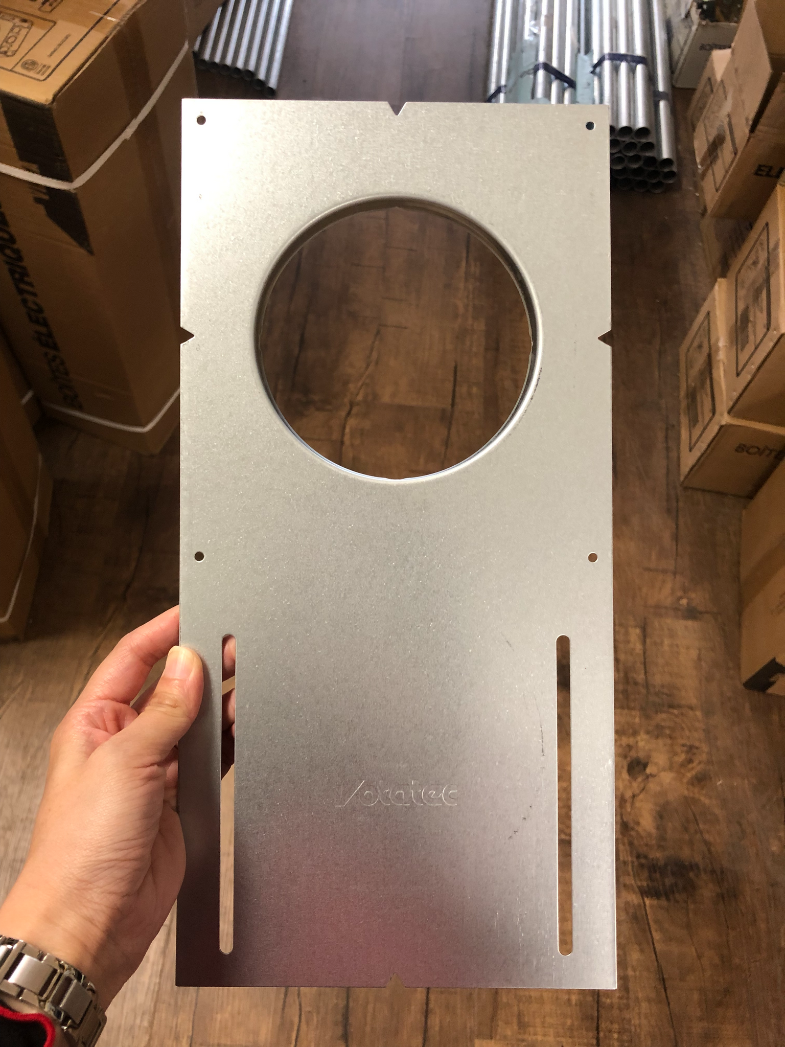 "Votatec 4"" Mounting Plate (With Lip) for 4"" retrofit housings and 4"" Slim Panels Without scales"
