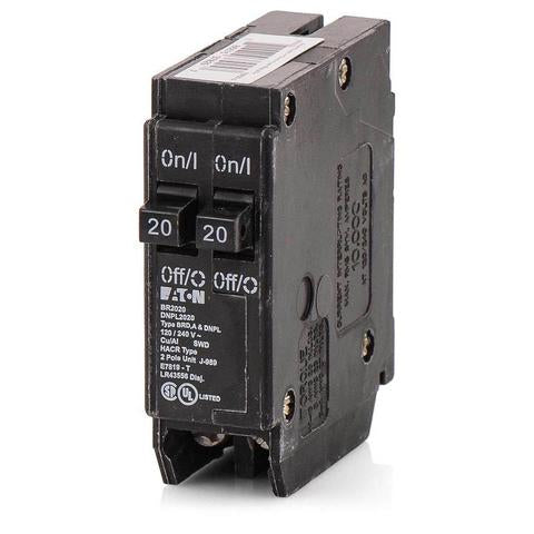 Eaton BR2020 Cutler-Hammer Tandem 20/20 Amp Single Pole Circuit Breaker