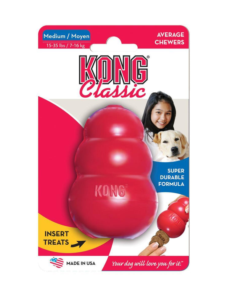 KONG Classic Dog Toy - Orange Pet Dog Training