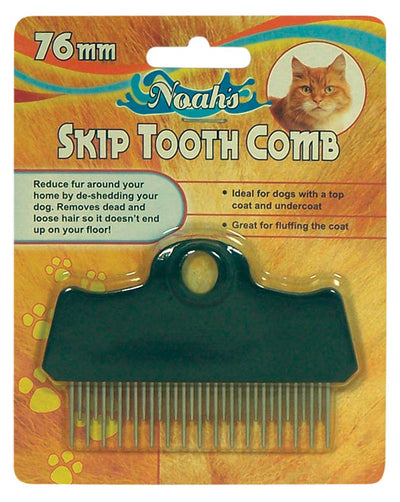 Noahs 76mm Skip Tooth Comb