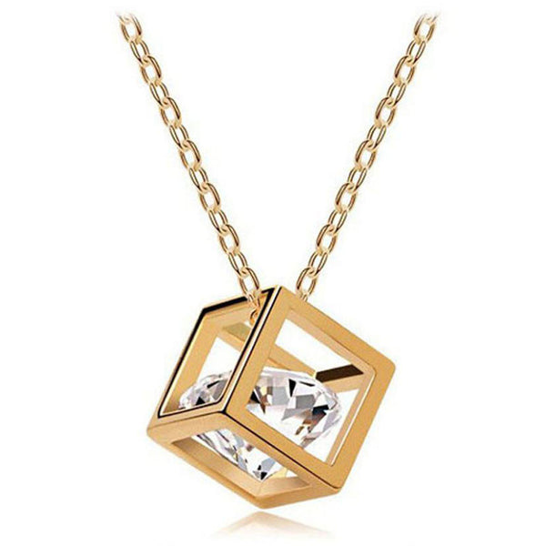 Official Necklace Passion Crystal Square Pendant - Necklace Passion