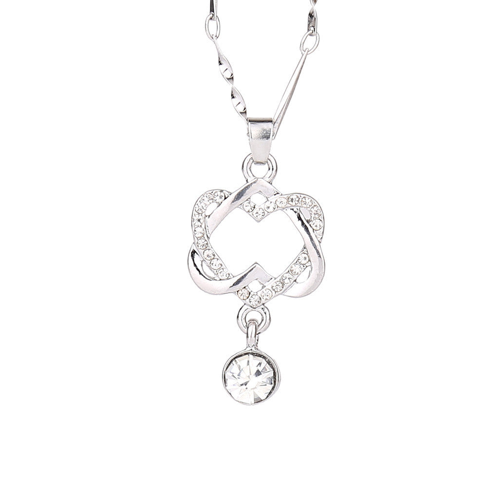 Official Necklace Passion Double Heart Pendant - Necklace Passion