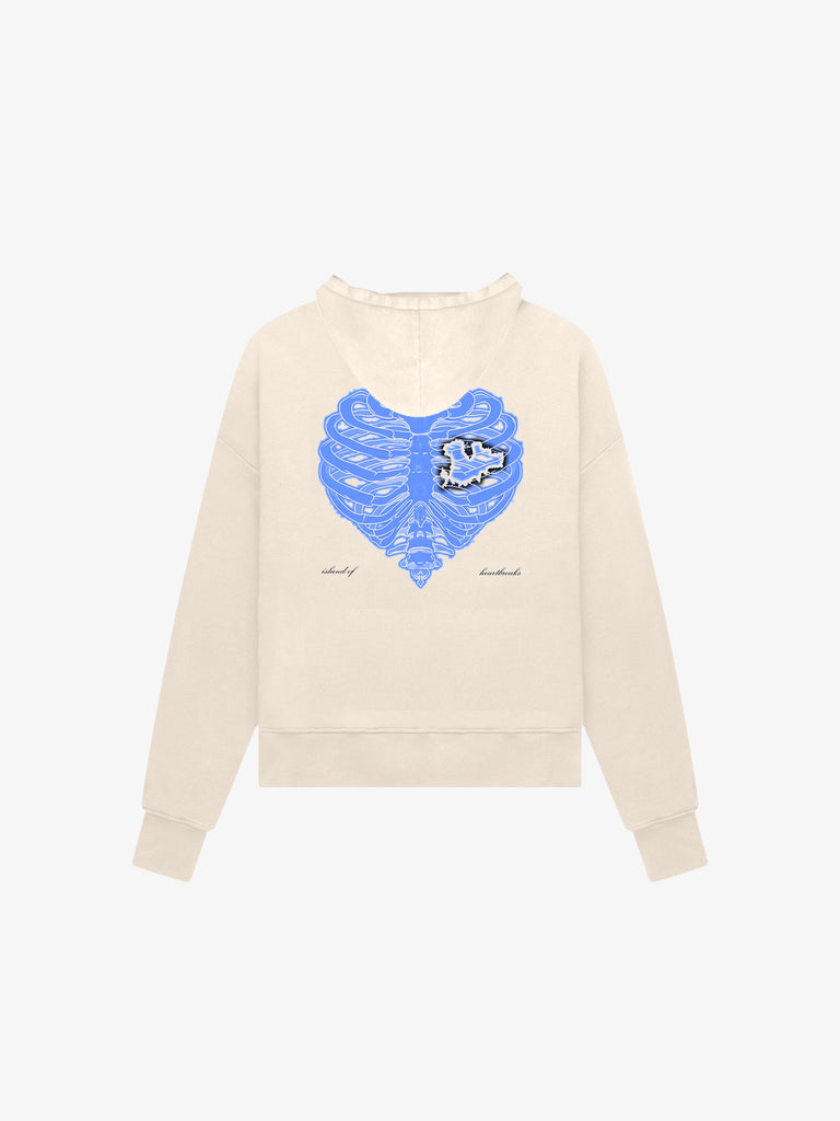 Island of Heartbreaks Zip Hoodie / Cream