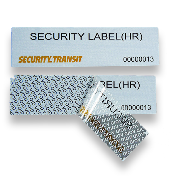 Security Label High Residue (500 labels per roll) - Security4Transit
