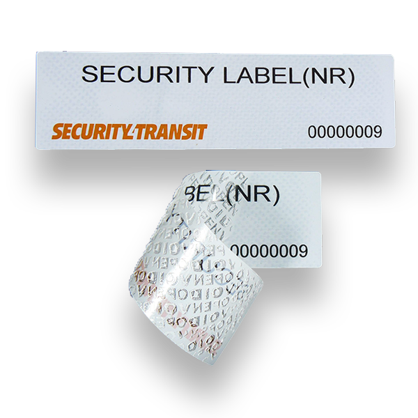 Security Label - Large - No Residue (roll of 500 labels) - Security4Transit