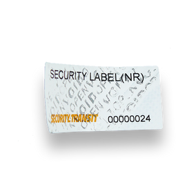 Security Label - extra Small - No Residue - Security4Transit