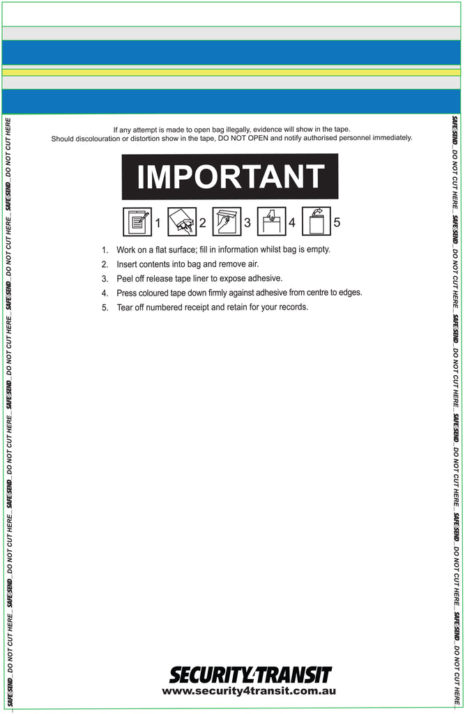 Tamper Evident Single Use Bag (clear) (500) - Security4Transit