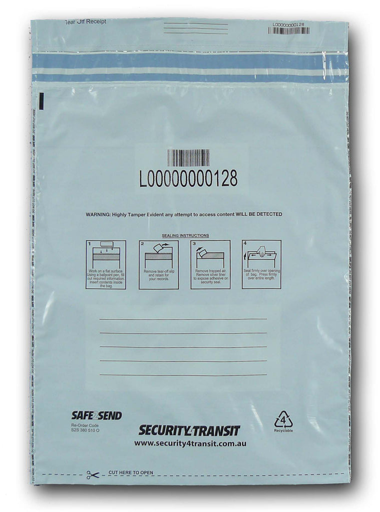 Security Satchels - One Trip (opaque - multiple sizes) - Security4Transit
