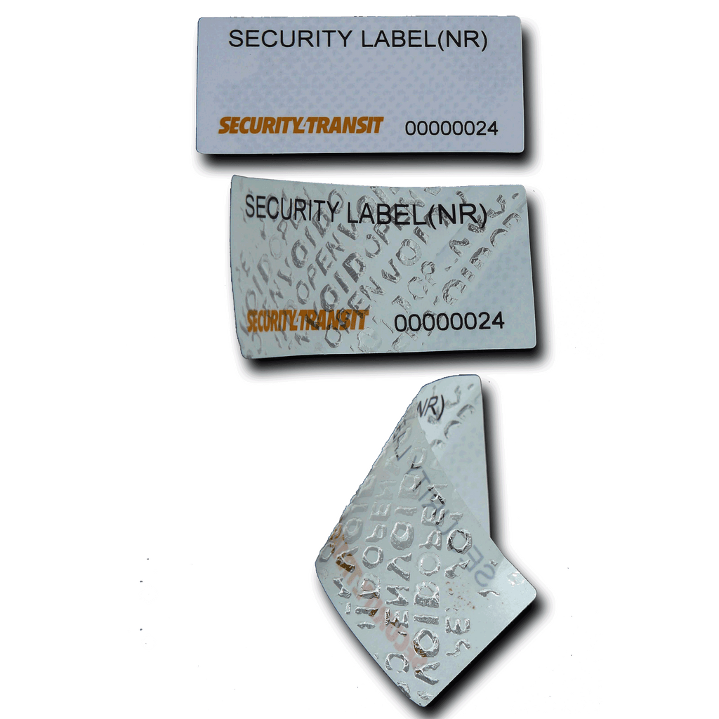 Security Labels - Tamper Evident - Small - No Residue - Security4Transit