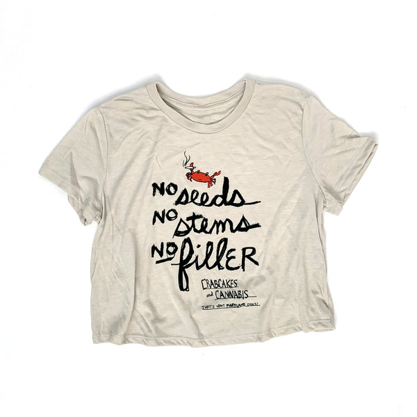 """No Filler"" Women's Cropped Tee"