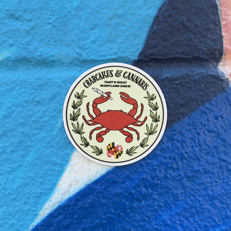 Crab Emblem Sticker