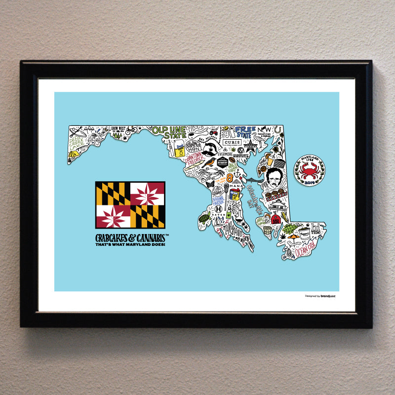 Maryland Map Print