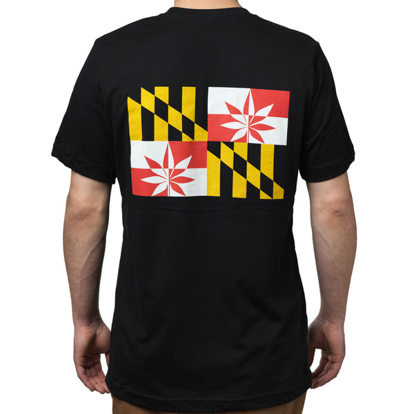 Short Sleeve Black T-Shirt - Crabcakes & Cannabis