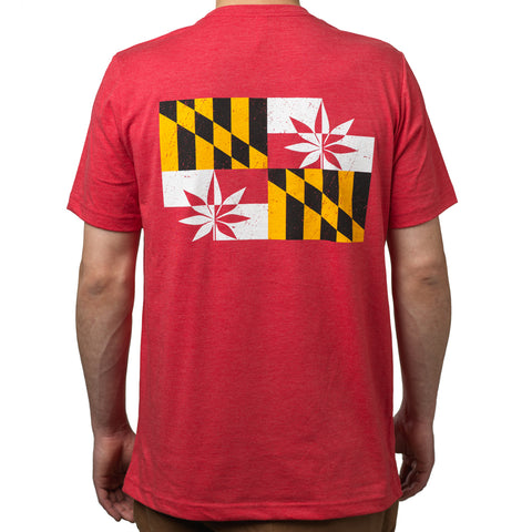 Short Sleeve Red T-Shirt - Crabcakes & Cannabis