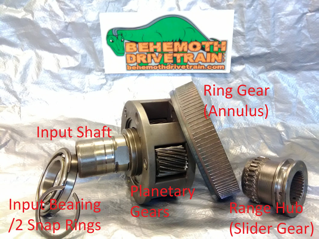 Provide and Install Good Used Planetary Gear Set, for 231/241/271 Style Kits