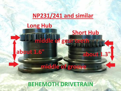 Short Shift Hub From Electric Shift NP233/243 and Similar, VSS  Compatible