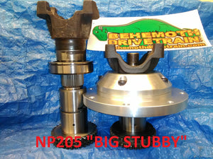 BIG STUBBY Short Rear Output Shaft For NP205 Transfer Case