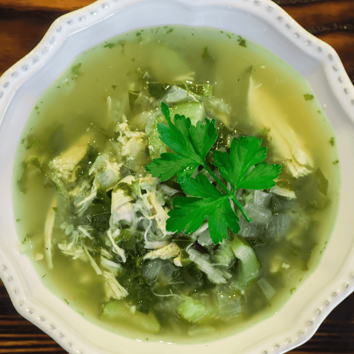 Green Vegetable Chicken Soup