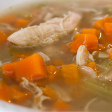 Gut Healing Chicken Soup with Raw Greens & Apple Cider Vinaigrette