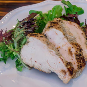 Organic Chicken Breast, Artichoke Salad & Lemon Ginger Dressing