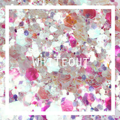 whiteout face glitter