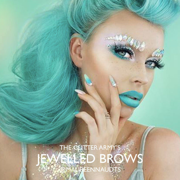 jewelled brows, glitter brows, the Glitter Army
